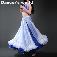 Hot Sale Professional Belly Dance Skirt 10 Colors Sexy Long Flamenco Skirt Side Split For