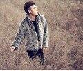Men's fur coat mink coat imitation rabbit hair men's tide coat winter velvet short fur fur casual leather