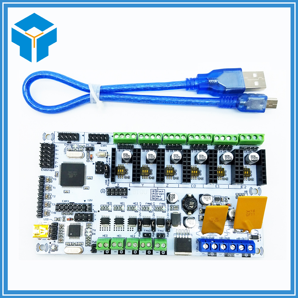 3D printer motherboard rumba MPU / 3D printer accessories RUMBA optimized version control Board optimized–motion planning