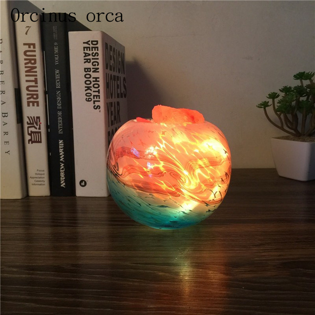 US $63.42 13% OFF|Einfache moderne kreative Himalaya salz kristall lampe  schlafzimmer nacht Nachtlicht geburtstag geschenk lampe freies verschiffen  in ...