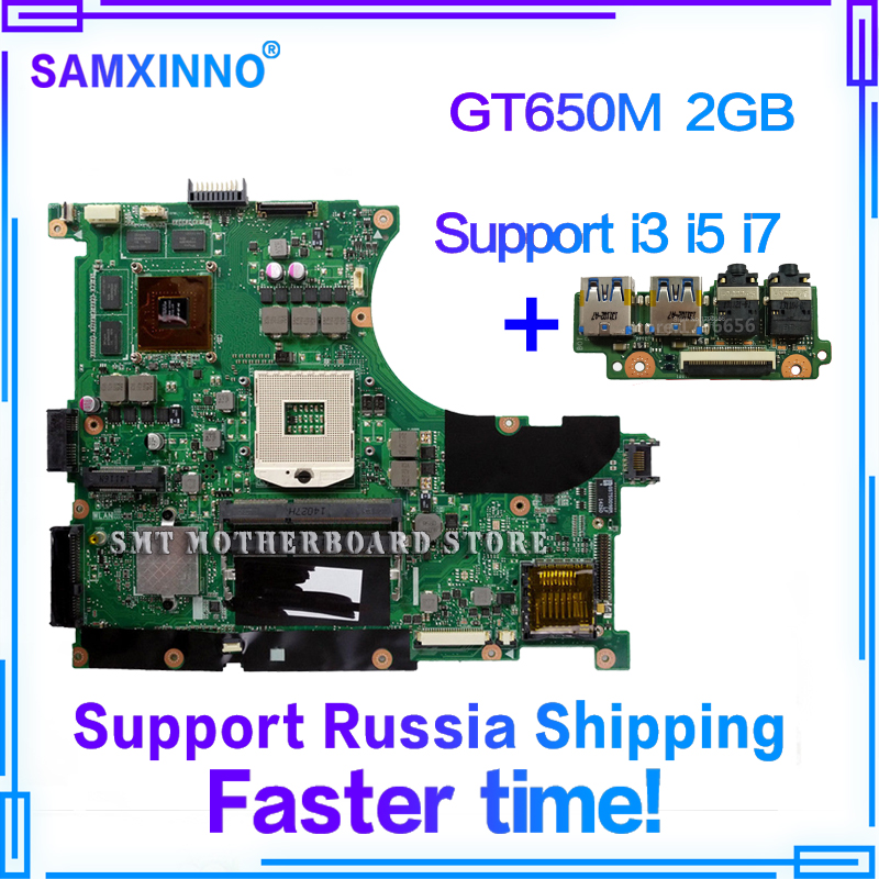 купить send board+N56VZ Motherboard GT650M/2G REV:2.3 For ASUS N56VM N56VJ N56VB laptop Motherboard N56VZ Mainboard N56VZ Motherboard по цене 3654.78 рублей
