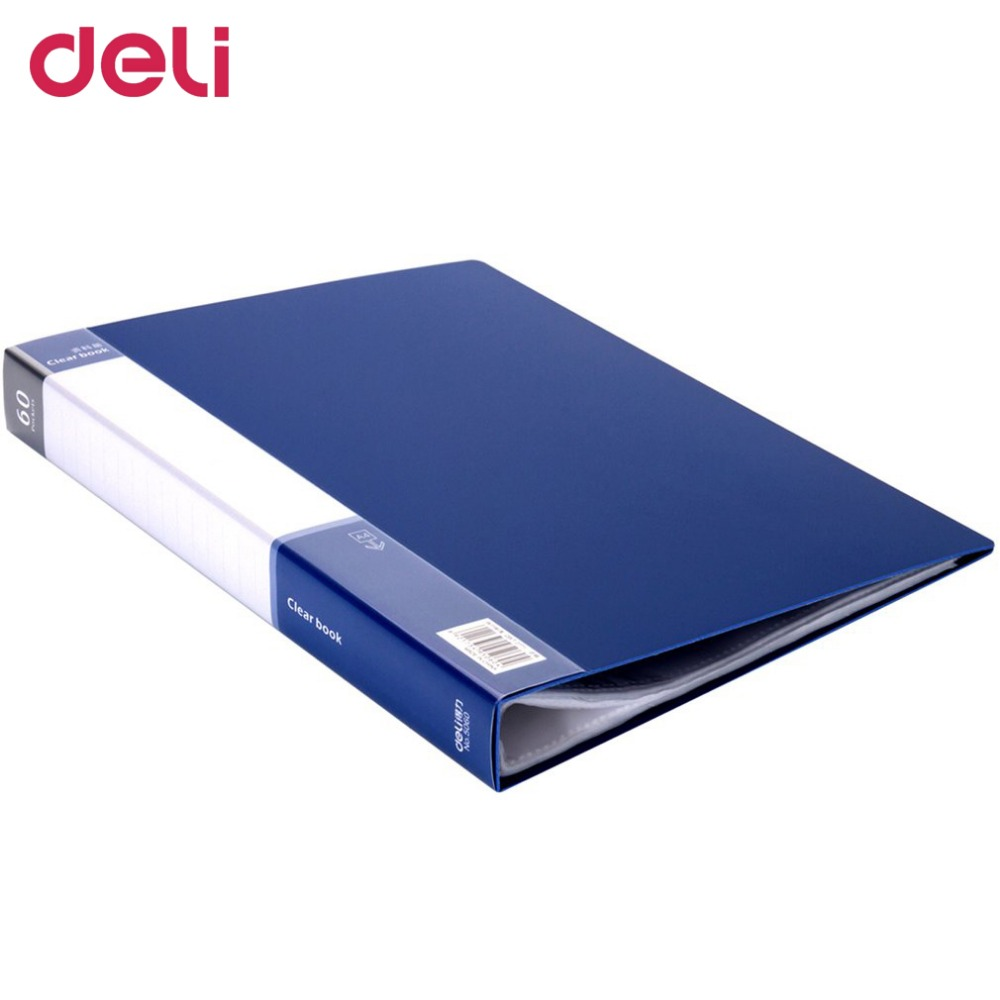 Deli 5240 Data Book A4 File Folder Archives Document Bag For School Office And Business Stationery Folder 60 Transparent Pages free shipping business office school stationery products data volumes inset bag a4 loose leaf carpetas folder pasta escolar002