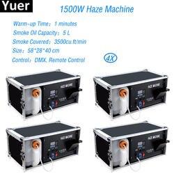 Бесплатная доставка 4 шт./лот Dmx Haze машина 1500 Вт Hazer дым сценическое оборудование туман Professional для дискотеки, клуба клуб