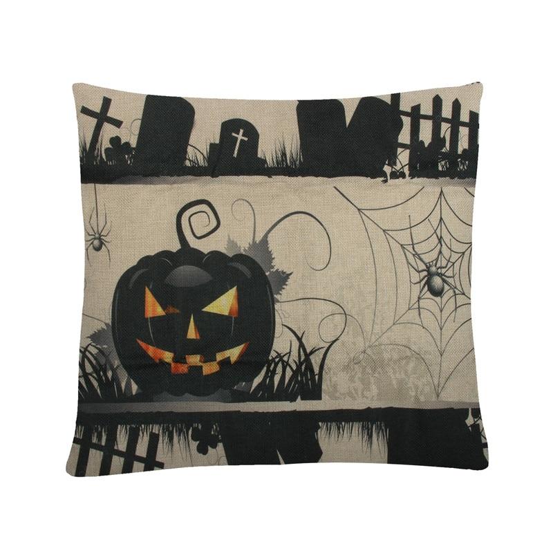 Cushion Cover Spider Halloween Pumpkin Pillow Case Cover Home Decorative For Sofa Car Seat Throw Pillows 45*45cm