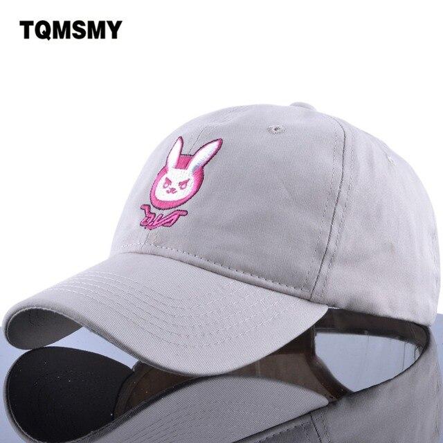 D.VA rabbit ear cotton embroidery snapback DVA Baseball cap women men  cartoon My business Dad hat Comic Dva cap cute cap hats d0d09fe9b9e