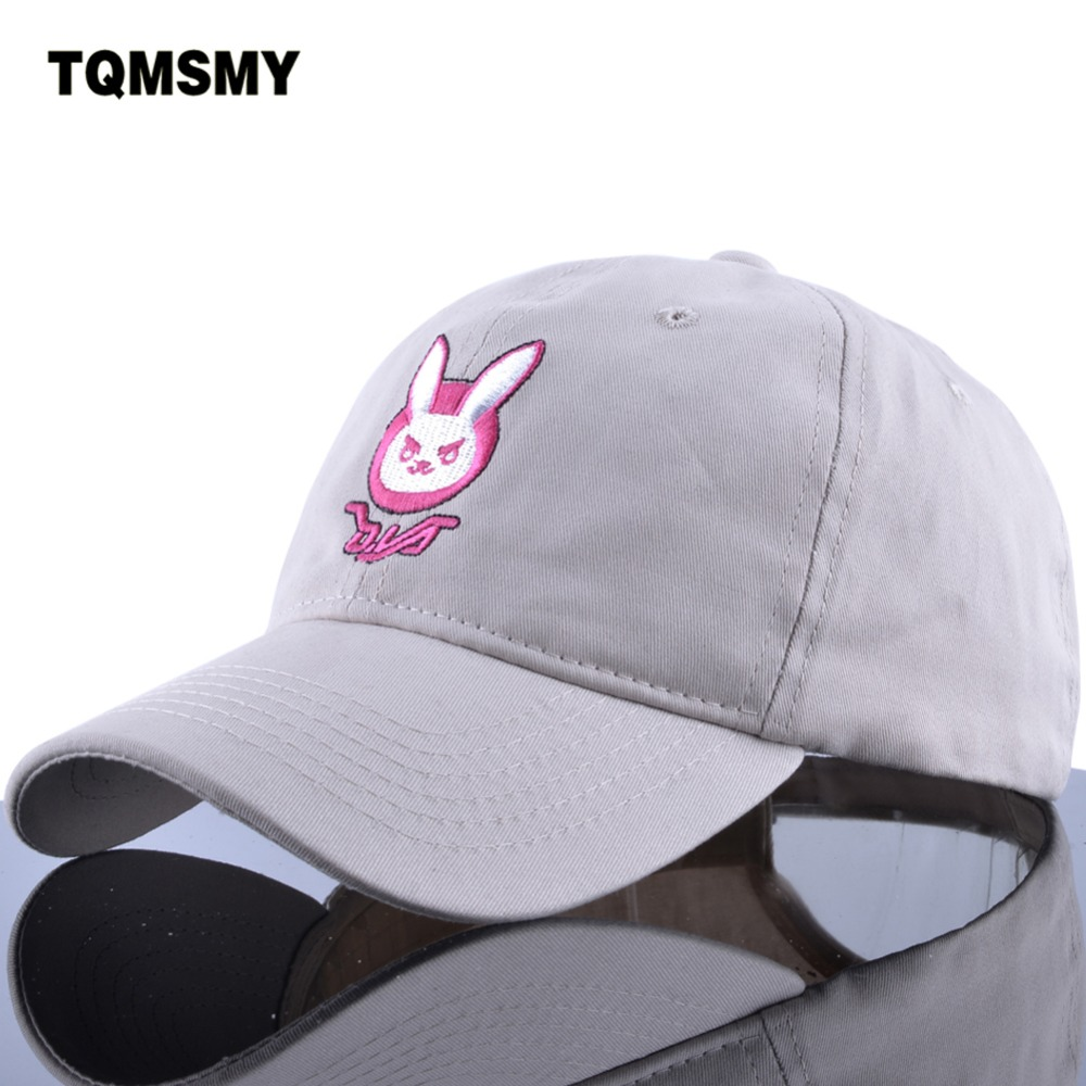 D.VA rabbit ear cotton embroidery snapback DVA   Baseball     cap   women men cartoon My business Dad hat Comic Dva   cap   cute   cap   hats
