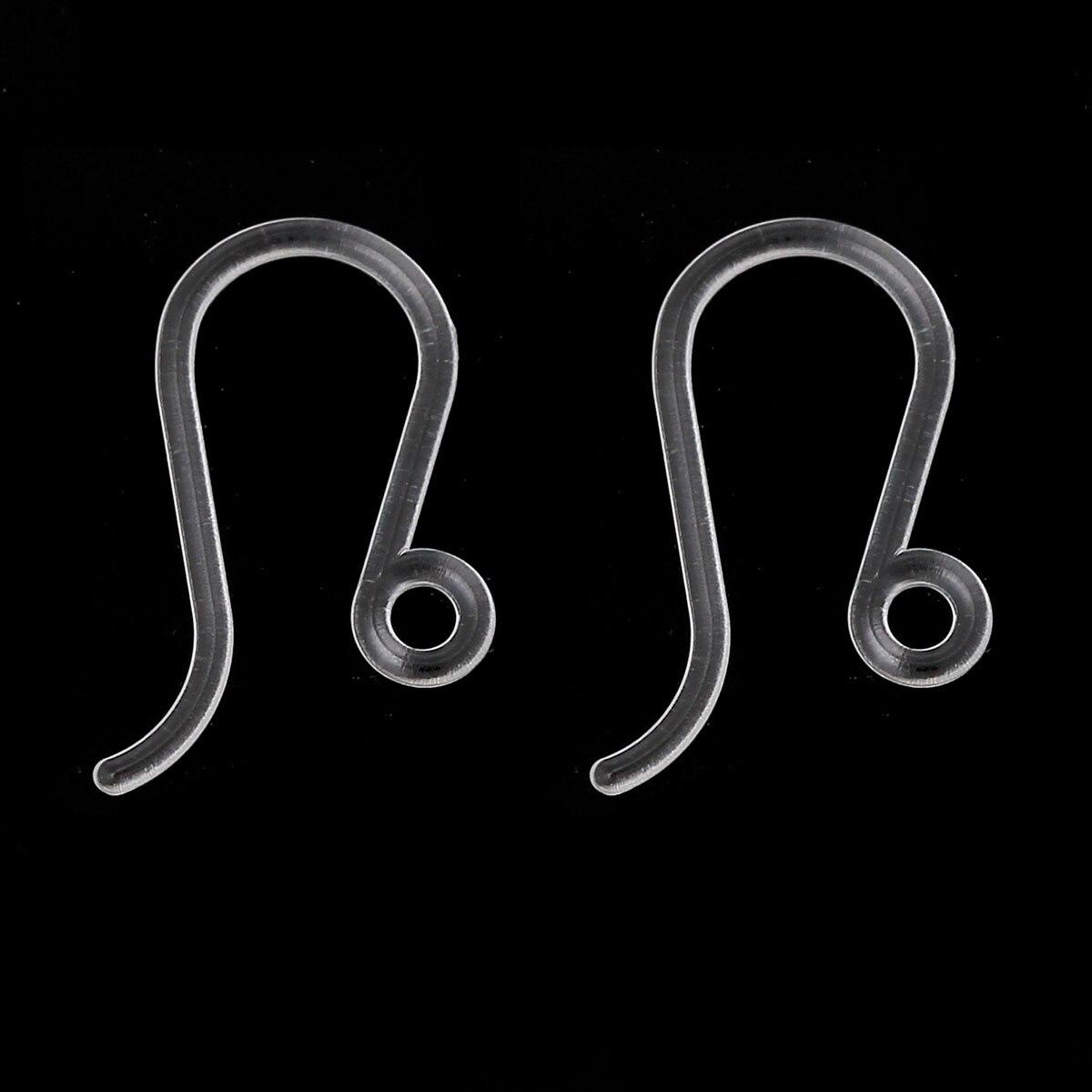 8 сезонов, пластиковые крючки для ушной проволоки, прозрачные серьги с петлей, сделай сам, ювелирные изделия 17 мм x 8 мм, размер поста/провода (...
