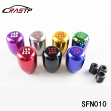 Universal Racing 5 Speed Gear Manual Car Shift Knob For Honda Acura Transmission With 3 Kinds Of Fittings RS-SFN010