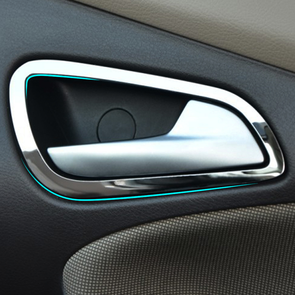High quality stainless steel interior doors hand clasping decoration ring auto accessories for ford