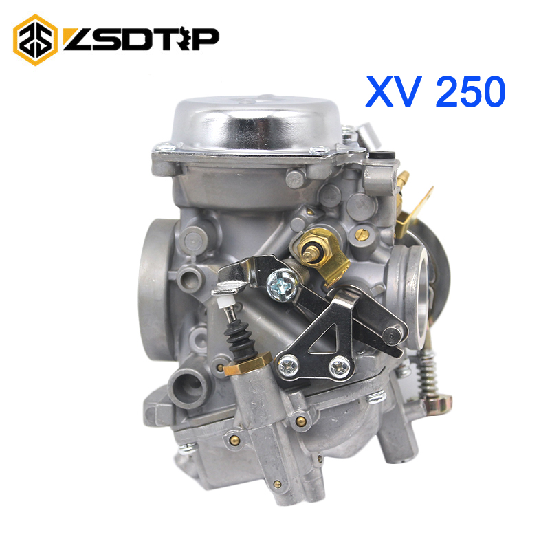 ZSDTRP XV250 26mm Carburetor Carb For Yamaha Virago 250 V-star 250 Route 66 1988-2014 XV250 95-04 High Performance Aftermarket relay cdi ignition ignition coil regulator for yamaha xv250 virago vstar 250