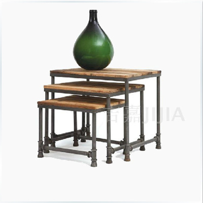 Iron Pipes Retro Black Coffee Table And Chairs Computer Desk Shelf Bookcase Furniture Custom Made