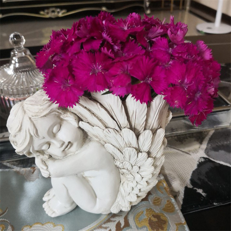 Cupid Angel Flower Vase Movie Figure Home Decor Art Designer Flower Little Wing Flower Pot Home Decoration R359|Statues & Sculptures| |  - title=