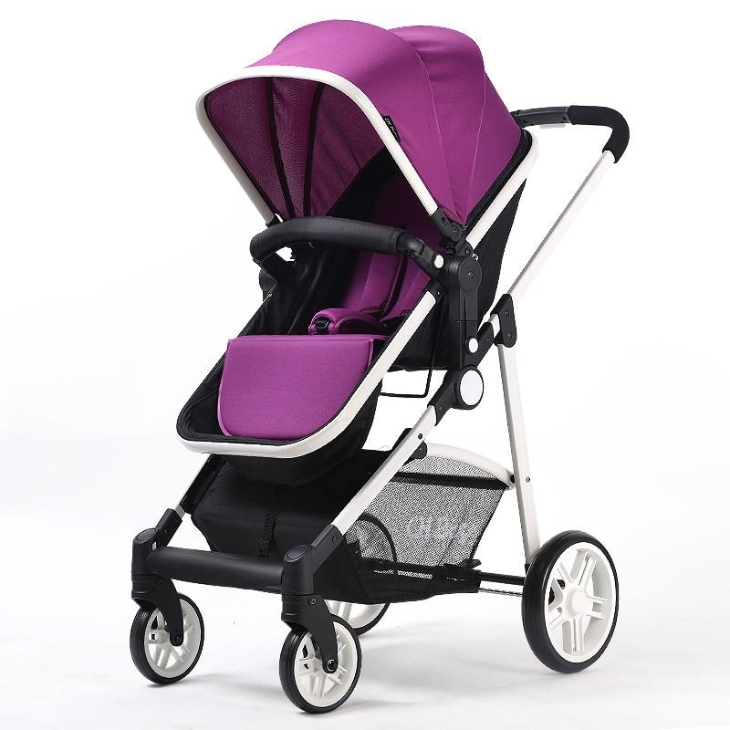 Chbaby haut paysage Super léger Portable enfant poussette quatre roues bébé landau pour poupées bébé pourrait s'asseoir et se coucher 2 en 1