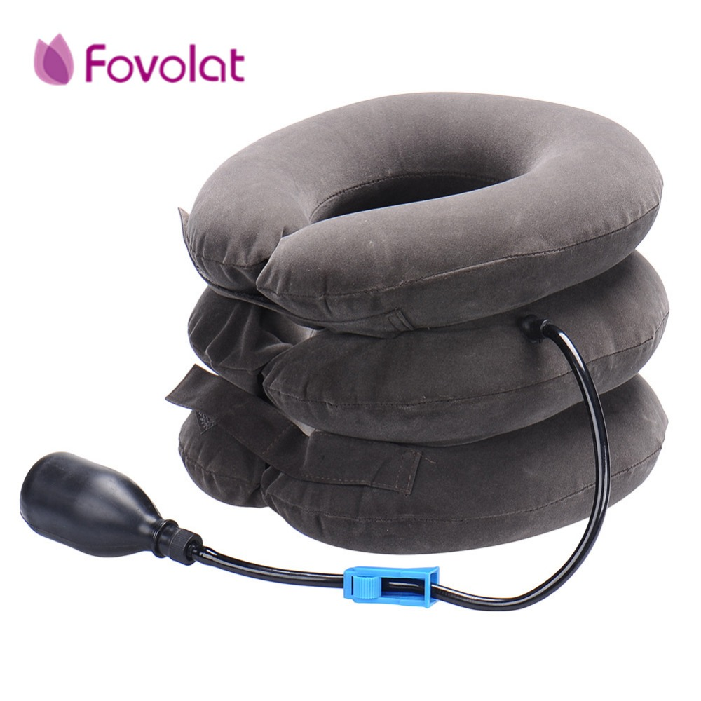 Neck cervical traction device - inflatable collar Head Back Shoulder - Neck Pain Headache health care massage device