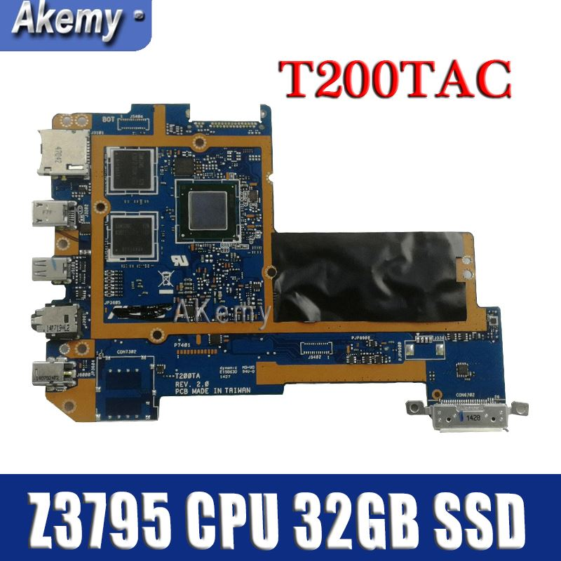 Amazoon  T200TAC  tablet PC Logic motherboard for ASUS T200TAC T200TA T200T mainboard 4G /Z3795 CPU 32GB  SSD 90NB06I0-R00030Amazoon  T200TAC  tablet PC Logic motherboard for ASUS T200TAC T200TA T200T mainboard 4G /Z3795 CPU 32GB  SSD 90NB06I0-R00030
