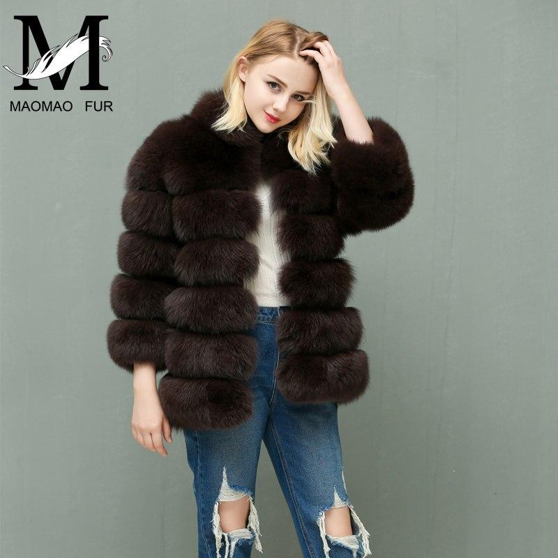 Mulheres Quente Casaco de Pele De Raposa Inverno Senhoras Casaco De Pele de Moda Outerwear Fêmea Azul Natural Fox Fur Real Casacos