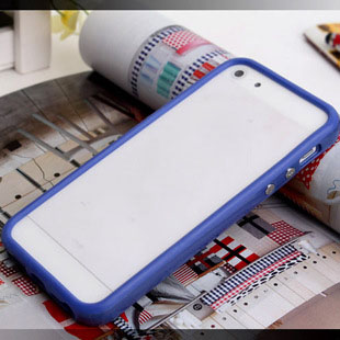 TPU Rubber Bumper Frame Cover with Metal Button For iPhone 5 5G 5S SE 5SE Without Retail Package Box ...