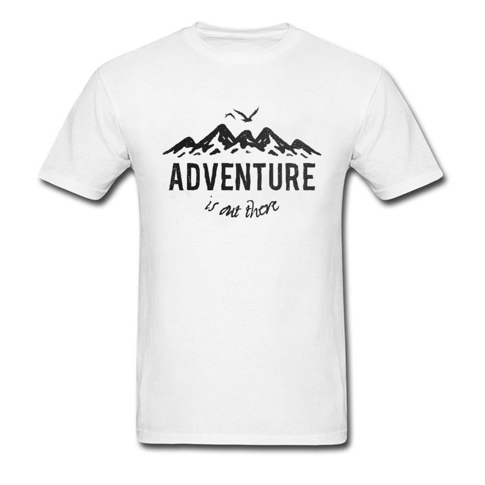 Design Mountain Adventure T Shirt Men's Full Cotton Animal Birds Letters Print  Men T-Shirt Coming Adventure Summer Tops Tees