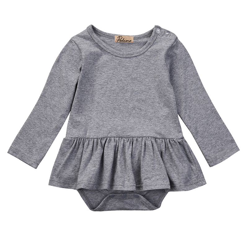 2017 Hot Baby Rompers Spring Clothing Infant Baby Girls Clothes O-Neck Long Sleeve Romper Cotton Jumpsuit For Baby Girl Outfits newborn baby rompers baby clothing 100% cotton infant jumpsuit ropa bebe long sleeve girl boys rompers costumes baby romper
