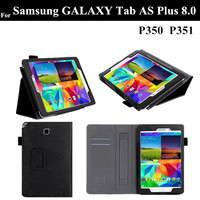 TAB AS 8 0 Lichee Pattern Stand PU Leather Case For Samsung GALAXY Tab AS Plus