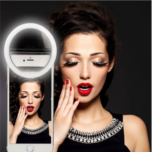 Latest Luxury Selfie Light 36 LED Round Indicator Halo 3 Brightness for iPhone 5S 6S 7 Plus Samsung Galaxy S7 Self-timer Ring Li