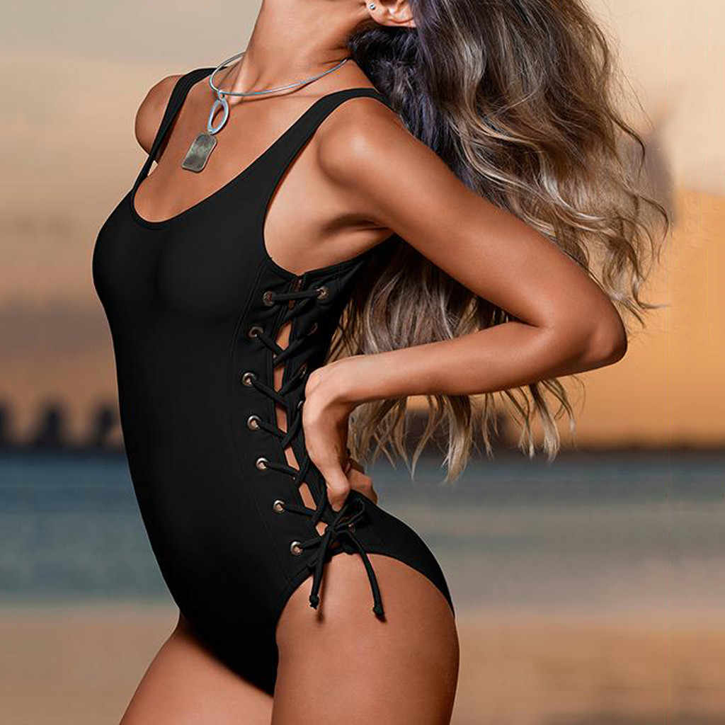 2019 New Women Swimming Costume Padded Swimsuit Monokini Swimwear Bikini Push Up Bra Beachwear Bikini Summer Bathing Suit