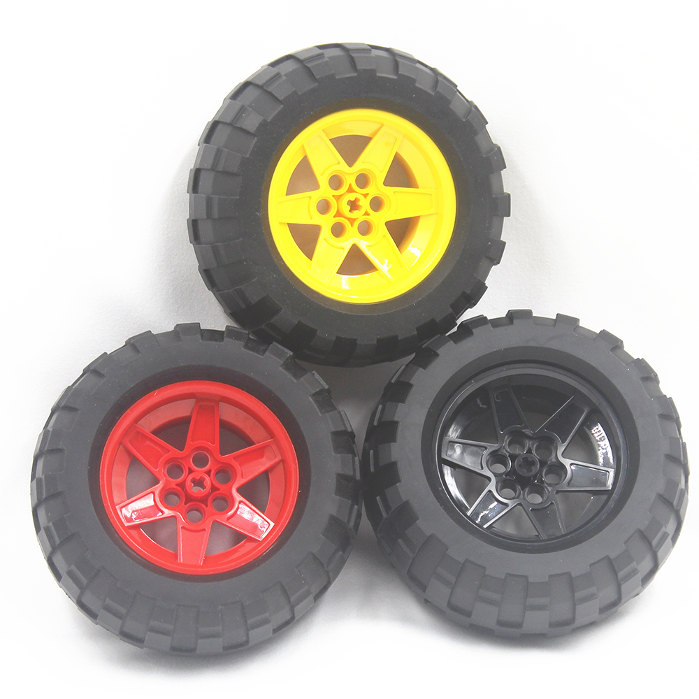 MOC Technic Parts 1pcs TYRE BALOON WIDE DIA94,8 X 44 & RIM DIA 56 X 34 Compatible With Lego For Kids Boys Toy