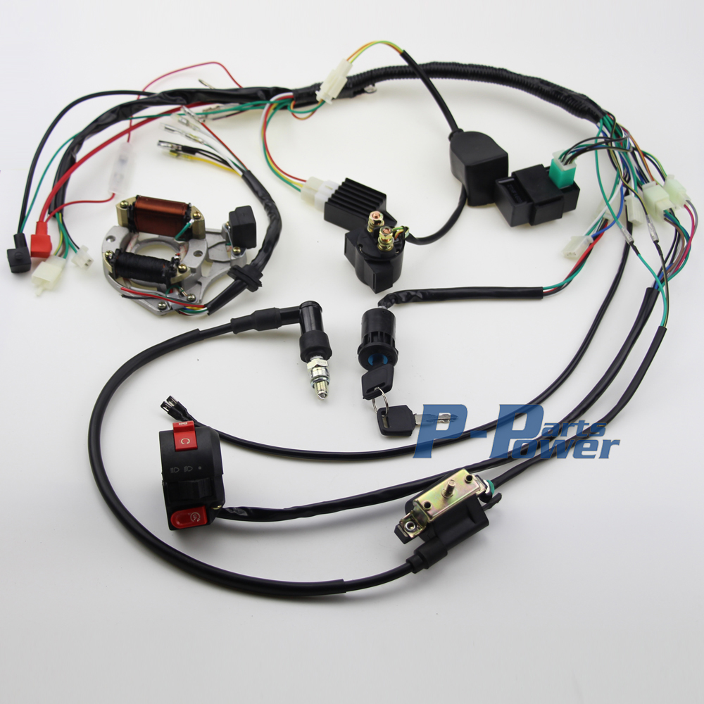 Chinese 50cc Atv Wiring Harness Diagram Fuse Box 90cc 70 110cc 125cc Wire Loom Cdi Assembly Rh Aliexpress Com Quad