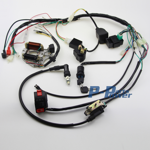 50cc 70 90cc 110cc 125cc wire loom wiring harness cdi assembly atv rh aliexpress com kazuma 50cc atv wiring diagram hensim 50cc atv wiring diagram