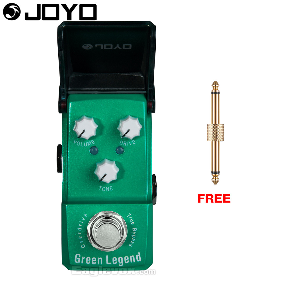 Joyo Ironman Green Legend Overdrive Guitar Effect Pedal True Bypass JF-319 with Free Connector aroma adr 3 dumbler amp simulator guitar effect pedal mini single pedals with true bypass aluminium alloy guitar accessories