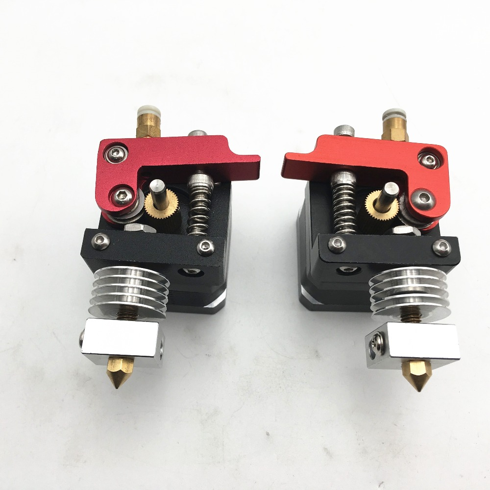 Updated MK8 Bowden Extruder Kit With Brass HeatBreak Aluminum Alloy Left Right Hand For 1.75mm Filament Extrusion 3D Printer