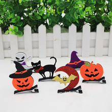2018 New Halloween Decoration Festival Birthday Party Holiday DYI Decorations Toys Bat Wings,Pumpkin,Demon,Witch,Cat Hair clip