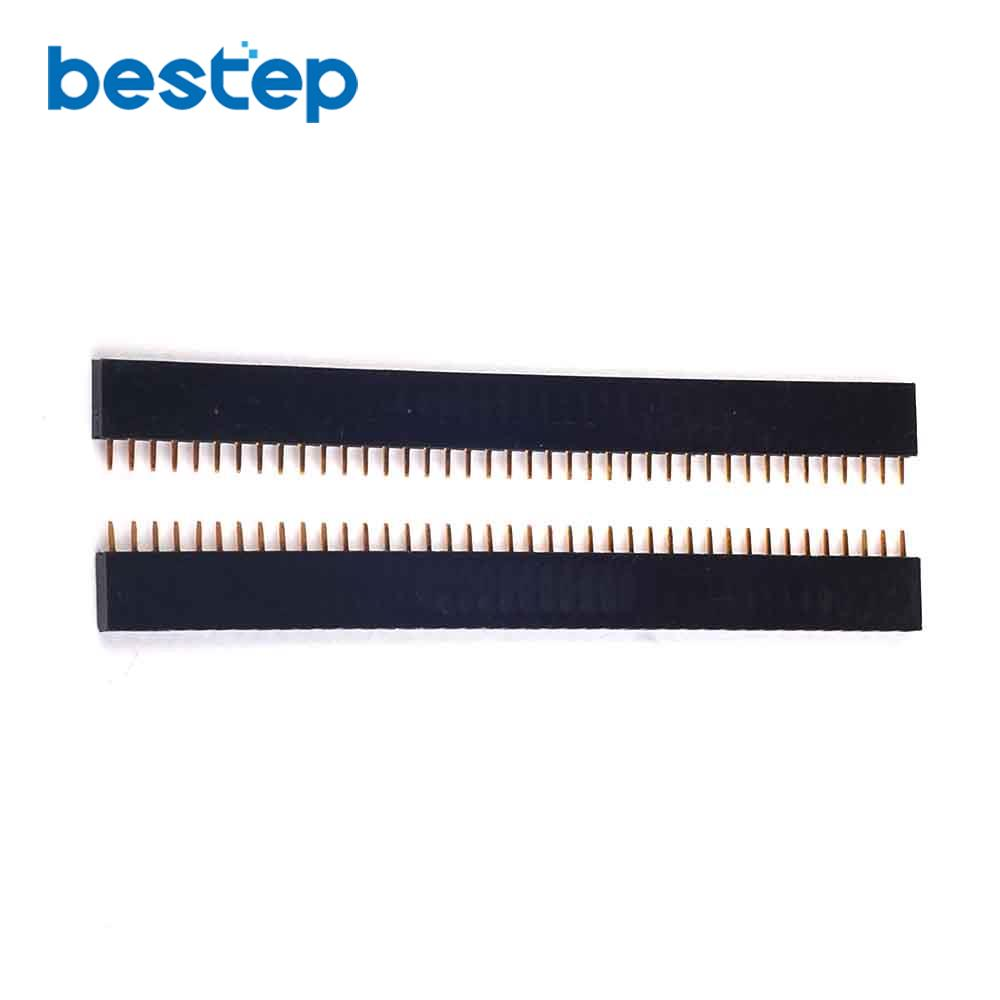 10PCS 1x40 Pin 2.54mm Single Row Female Pin Headerv