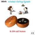Precio de la promoción de $ number teclas de llamada mesa de camarero K-D4 llamada campana de llamada del camarero inalámbrica transmisor botón botón de llamada Sin Hilos