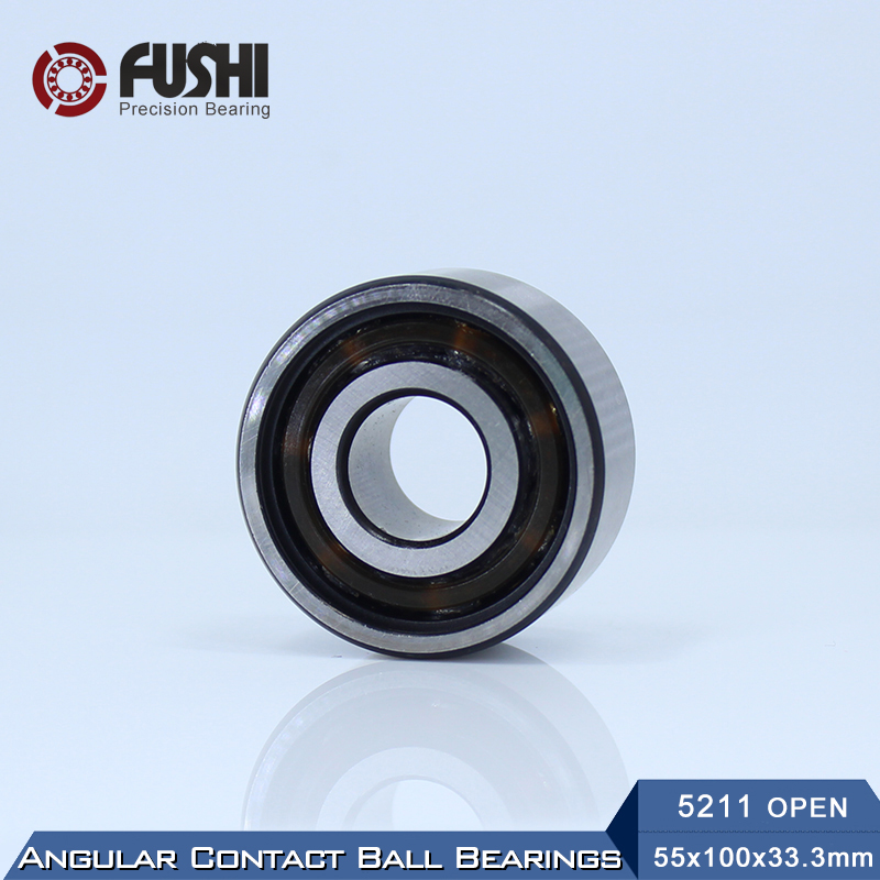 5211 OPEN Bearing 55 x 100 x 33.3 mm ( 1 PC ) Axial Double Row Angular Contact 5211 3211 3056211 Ball Bearings 5311 zz bearing 55 x 120 x 49 2 mm 1 pc axial double row angular contact 5311zz 3311 zz 3056311 ball bearings