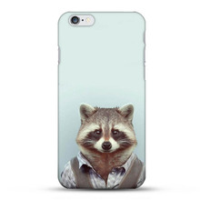 Fashion Man Shape Animal Funny Cool High Quality UV Black Bag Case For iPhone 6S