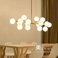 Veayas Magic Bean Modern LED Pendant Chandelier Lights For Living Room Dining Room G4 Gold Glass Chandelier Lamp Fixtures