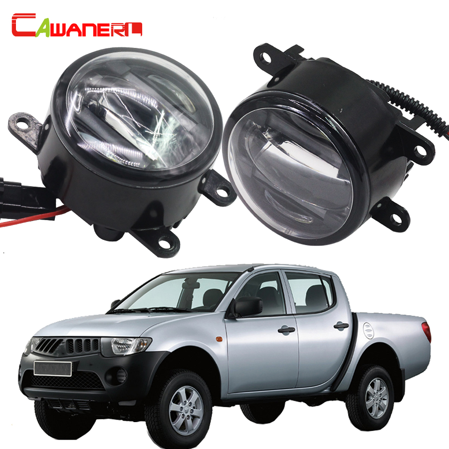 Cawanerl 2 Pieces Car LED Light Right + Left Fog Light DRL Daytime Running Lamp For Mitsubishi L200 KB_T KA_T Pickup 2005-2015 cawanerl for toyota highlander 2008 2012 car styling left right fog light led drl daytime running lamp white 12v 2 pieces