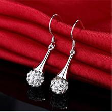 Корейские модные ультра блестящие покрытые серебром 925 пробы