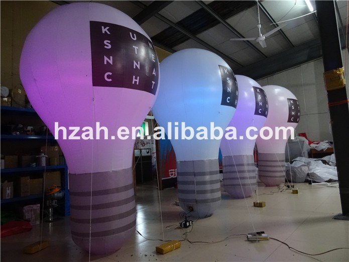 Large Bulb Standing Inflatable Light Bulb For Advertising