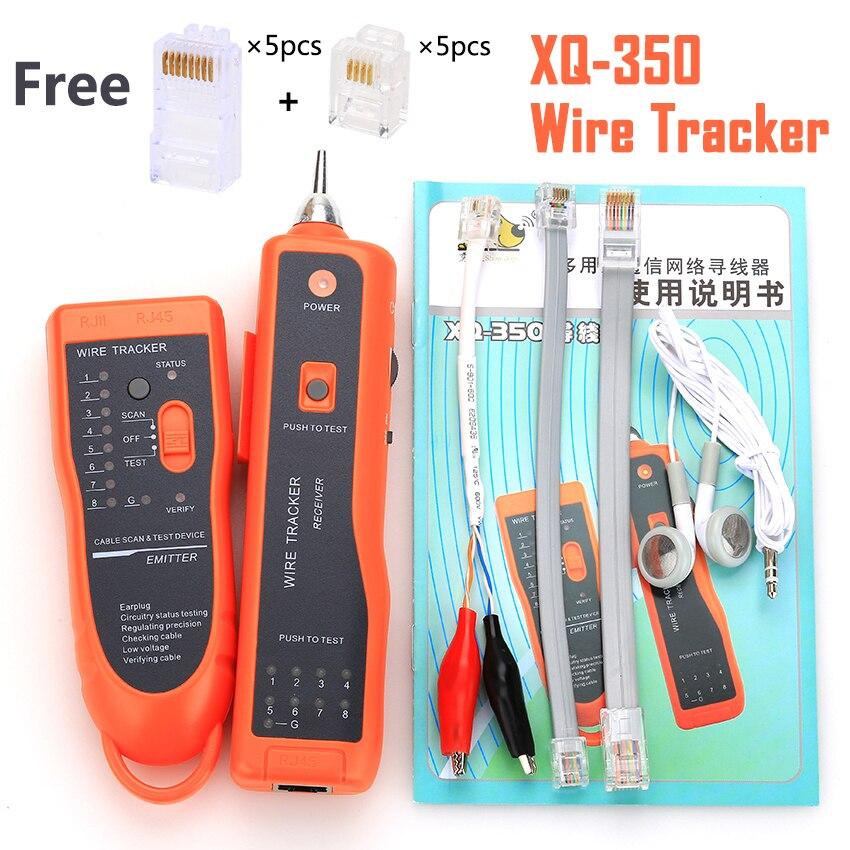 KELUSHI xq-350 RJ11 RJ45 Cat5 Cat6 Téléphone WireTracer De Toner Ethernet UTP LAN Câble Réseau Testeur Détecteur Ligne Finder