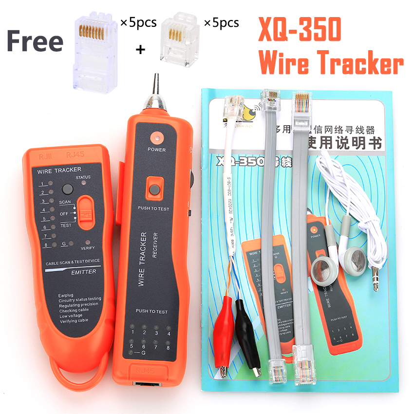 KELUSHI xq-350 RJ11 RJ45 Cat5 Cat6 Telefon WireTracer Toner Ethernet UTP Lan-netzwerkkabel Tester Detector Linie Finder