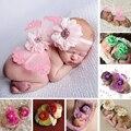 Fotografia Bebê recém-nascido Prop Foto Roupas de Crochê Malha Asas de Borboleta Do Bebê Da Foto Adereços Acessórios