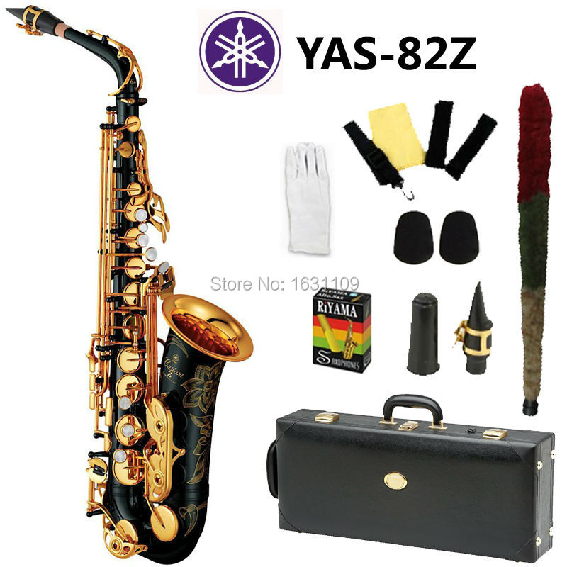 New Nickel Plated Black Saxophone Alto Sax YAS 82Z Musical Instruments Professional E flat Sax Alto