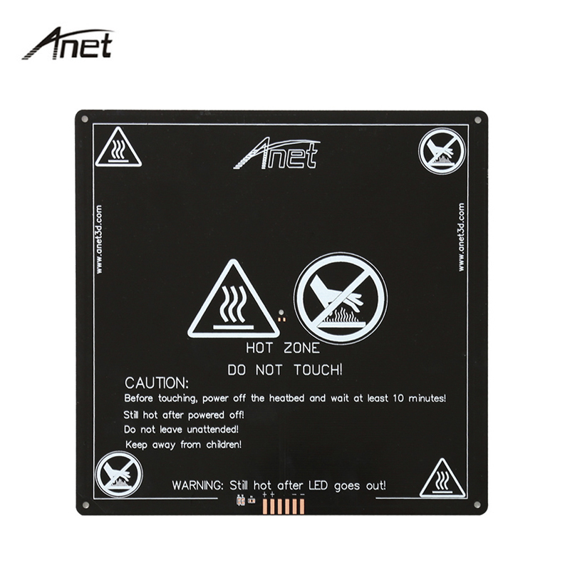 Anet Aluminum Heatbed 12V MK2B Upgraded Big Size 220mm*220mm*3mm MK2A Hotbed for Mendel RepRap 3D printer A8 A6 A2 A3 anet a6 a8 mk3 12v heatbed aluminum heated bed 220mm 220mm 3mm mk2b & mk2a for mendel reprap i3 3d printer hotbed with cable
