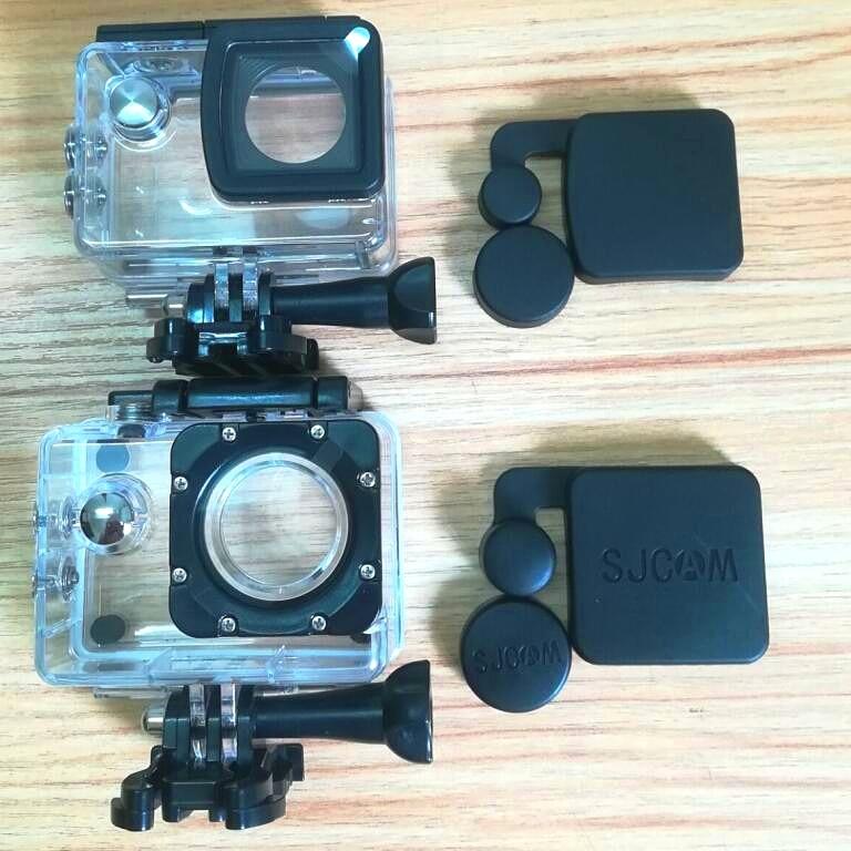 Clownfish New / Old Model Original SJCAM SJ4000 Lens Cap Cover And Hood For SJCAM SJ4000 SJ4000X Waterproof Housing Case Camera