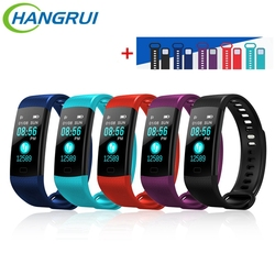 Hangrui Y5 Smart Bracelet Fitness Tracker Heart Rate Tracker Waterproof Sport Smart Wristband + Y5 Electronic Wristband Strap