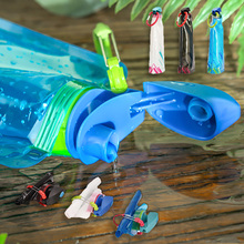 WTCABROE Outdoor Foldable Water bottle Sports Camping Hiking Traveling
