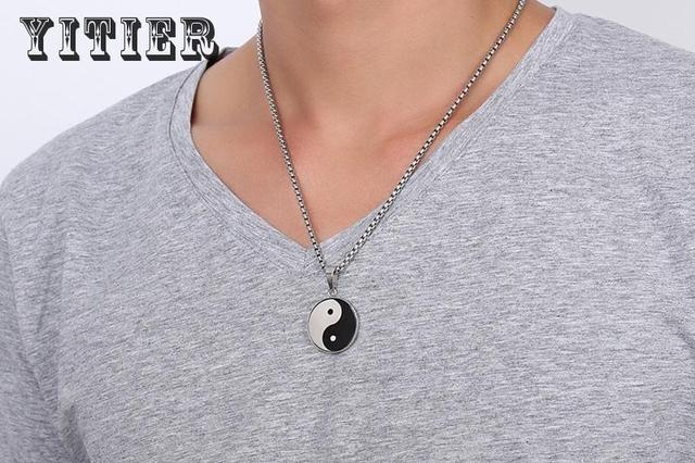 New popular beans mens jewelry pendants china yin yang fish taoism new popular beans mens jewelry pendants china yin yang fish taoism personality necklaces stainless steel high aloadofball Gallery