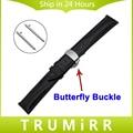 18mm 20mm 22mm watch band butterfly fivela de liberação rápida cinta superior genuíno cinto de couro pulseira de pulso universal marrom preto